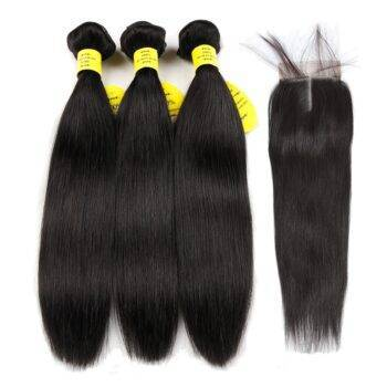 VeryYu Non-Remy Brazilian Straight Hair Weave