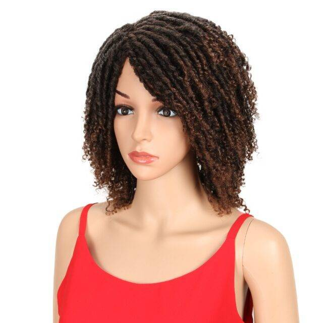 VeryYu Ombre Short Kinky Curly Crochet Synthetic Hair Wig Hair Extensions & Wigs  VeryYu the Best Online Store for Women Beauty and Wellness Products