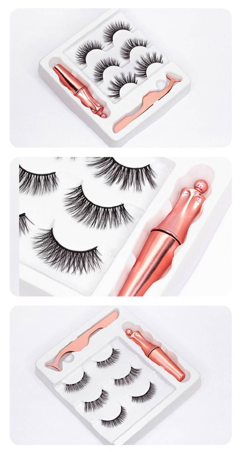 Set of Natural Magnetic Eyelashes