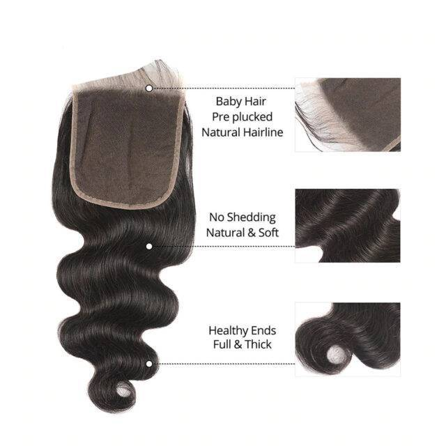 VeryYu Body Wave 4X4/6X6 Lace Closure Brazilian Human Hair Hair Care Hair Extensions & Wigs  VeryYu the Best Online Store for Women Beauty and Wellness Products