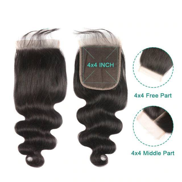 VeryYu 30 Inch Body Wave Human Hair with Closure Hair Care Hair Extensions & Wigs  VerYYu