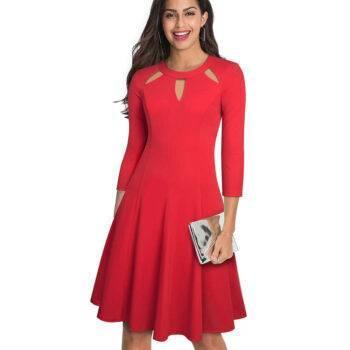 VeryYu Hollow Out Neckline Dress Dresses Fashion  VerYYu